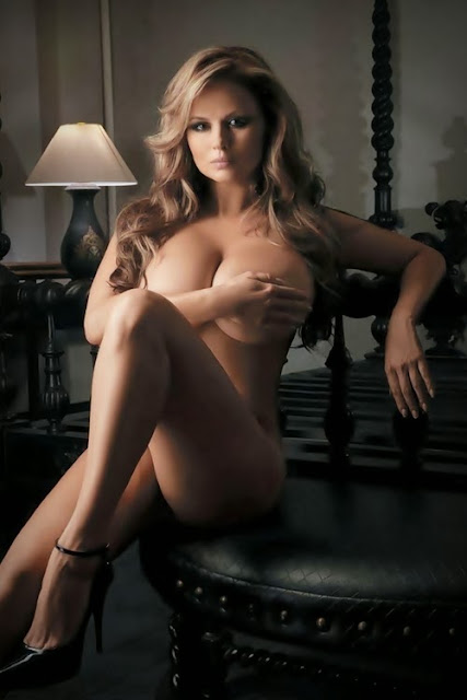 hottest Anna Semenovich topless nude Playboy photo