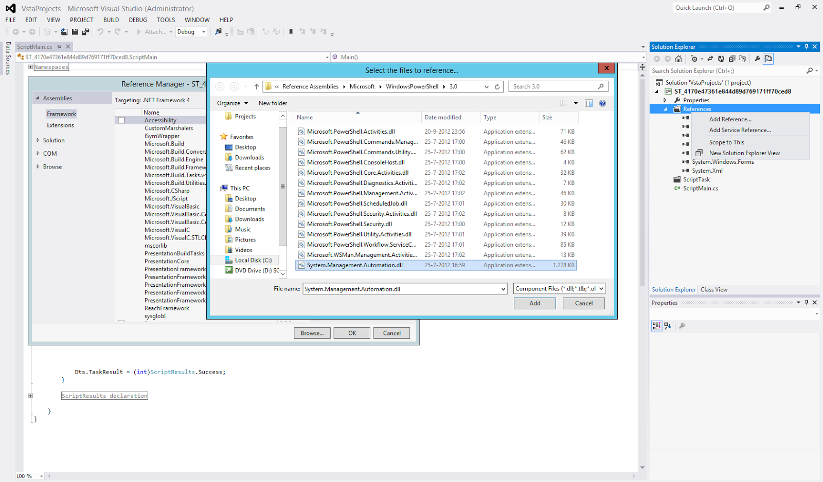 how to open a program with powershell