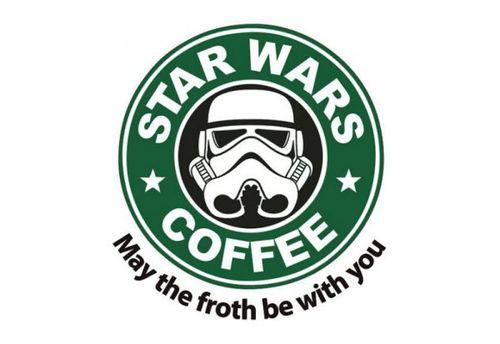 20 Logo Plesetan dari Perusahaan-Perusahaan Terkenal di Dunia: Starbucks Coffee - Star Wars Coffee