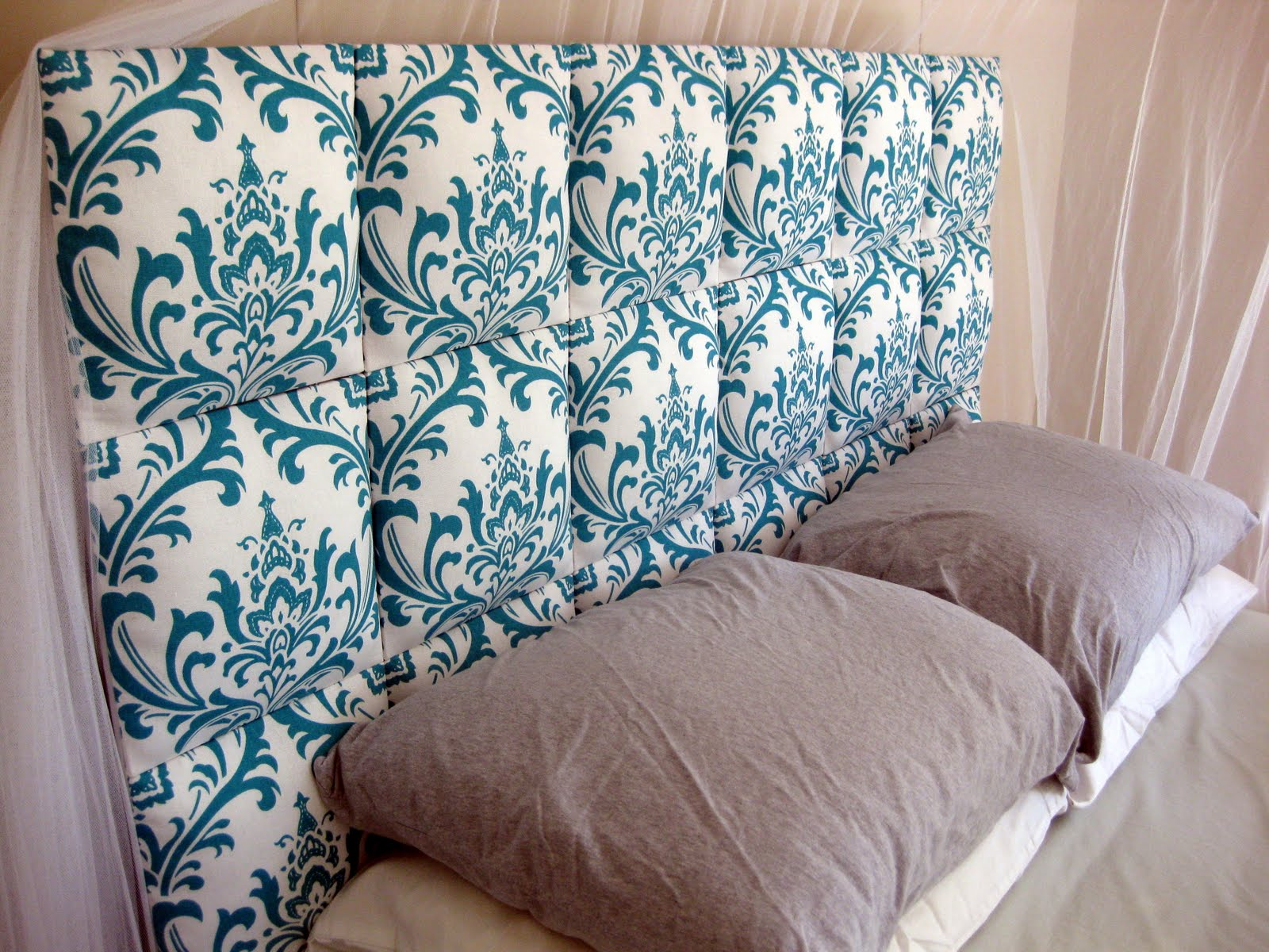 Easy upholstered diy headboard tutorial reality daydream for Makeshift headboard