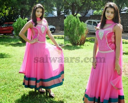 Priyanka Anarkali Pink Salwar