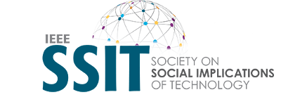 Logo of the Institute of Electrical and Electronics Engineers' (IEEE) Society on Social Implications of Technology (SSIT).
