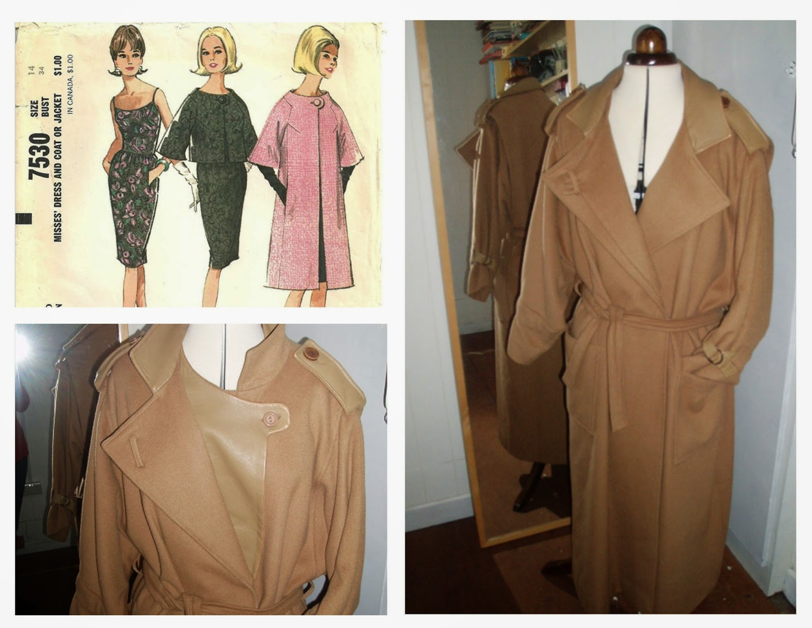 McCalls 7520 - pauline trigere coat - remakea coat to a coat