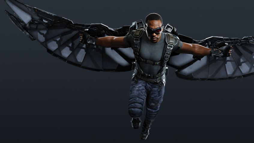 fashion and action falcon character poster for captain