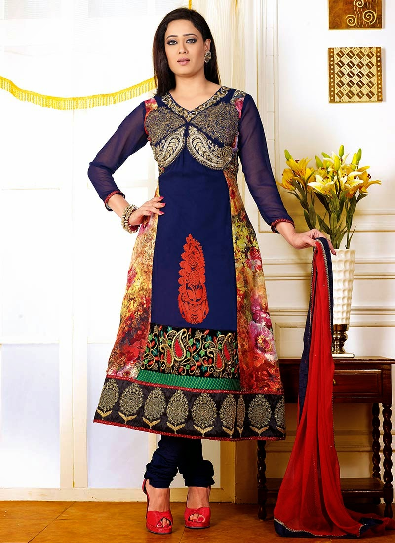 Stylish Churidar Suits For Young Girls From Summer Season 2014 ...