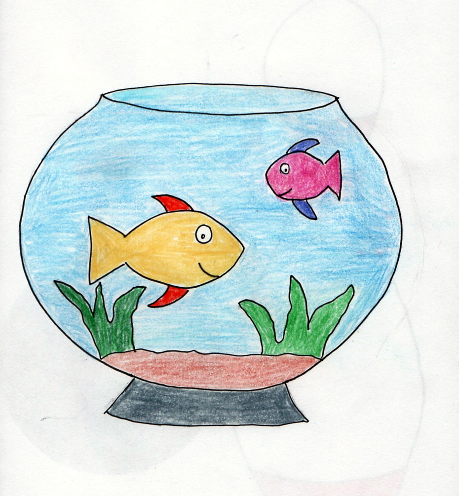 The sketchbook challenge how about a bowl of for How to make a fish bowl