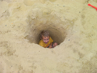 foxhole big enough for a boy