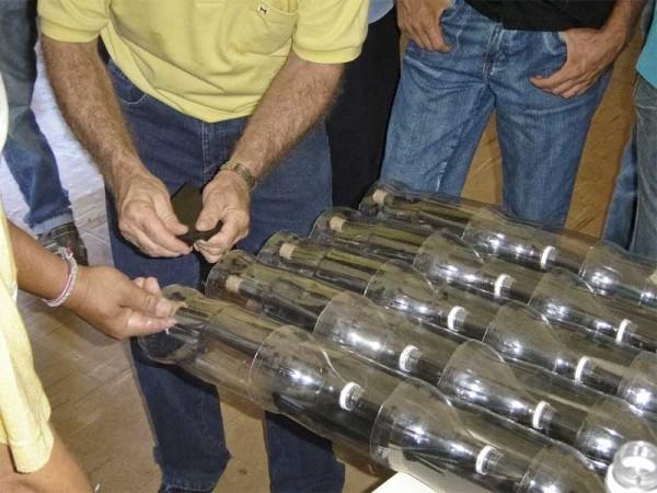 Ecococos colector solar con botellas pet - Scaldabagno solare fai da te ...