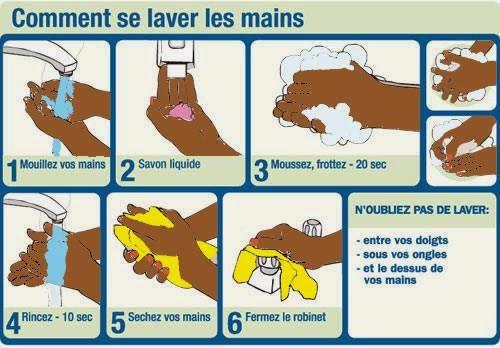Contre le virus de l'ebola, n'oublions pas de nous laver les mains tous les jours