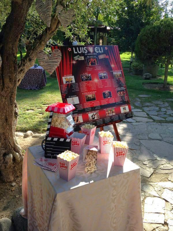 protocolo novios, boda temática cine