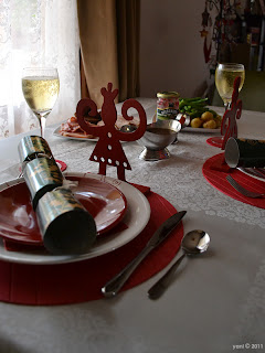 seven years of photographing the christmas table and it hasn't really changed that much