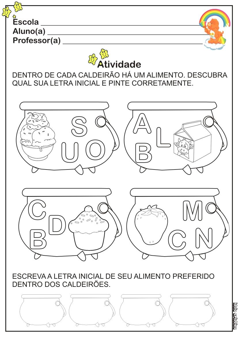 Populares Atividade Alimentação Ideia Criativa | Ideia Criativa - Gi Barbosa  UA21