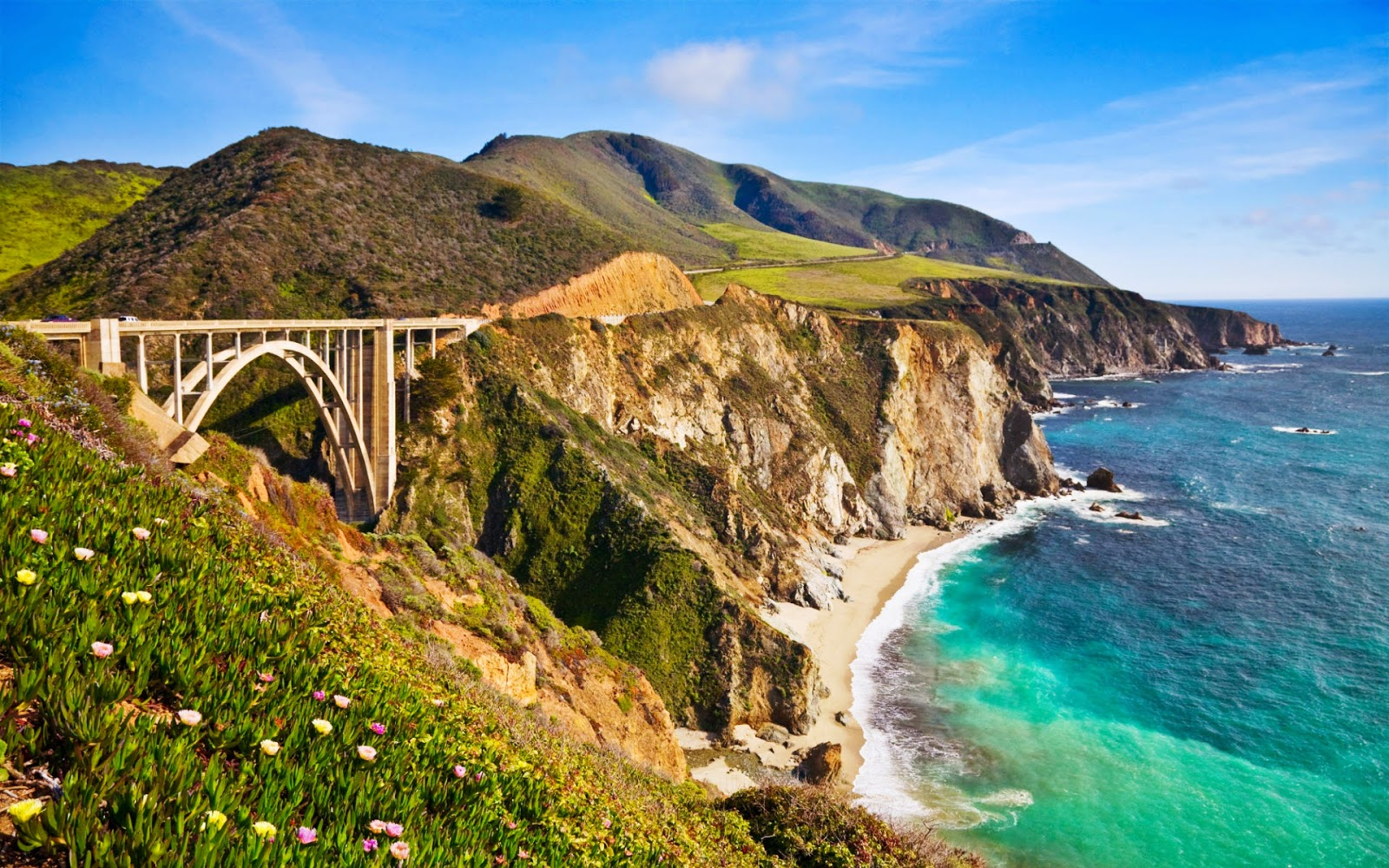bixby bridge in big sur california wide