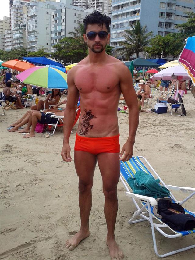 Cristimar Martins em praia do Balneário Camboriú. Foto: Arquivo pessoal