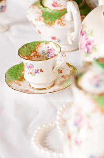 Vintage crockery from My Vintage Party