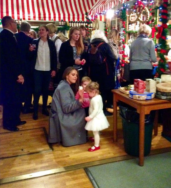 Princess Madeleine And Princess Leonor At The Christmas Fair