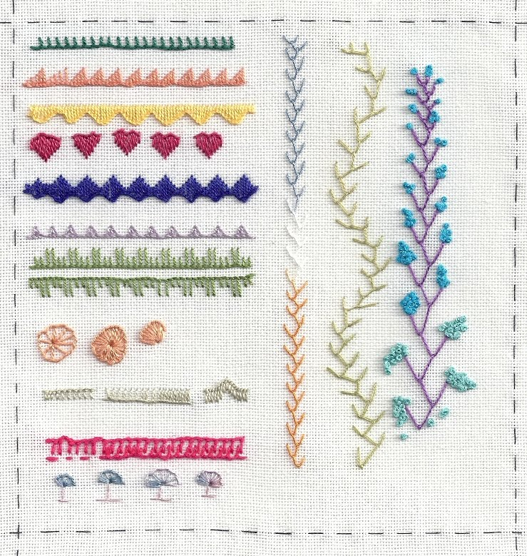 Poems of Lace & Embroidery: TAST - Feather Stitch