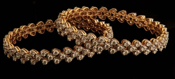 Diamond Bangles By Sri Krishna Jewellers Jewellery Designs