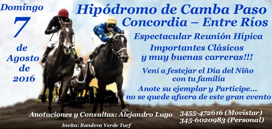 CONCORDIA - 7 DE AGOSTO