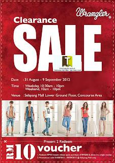 Wrangler Clearance Sale 2012
