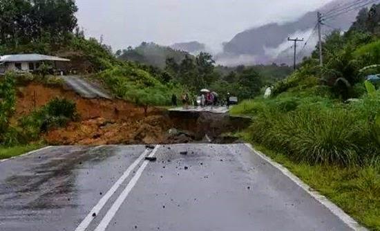 Jalan Runtuh Beberapa Kampung Di Padawan Kuching Terputus Hubungan