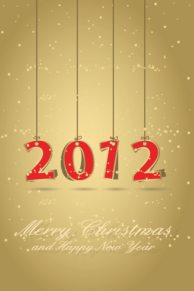 iphone 4 happy new year wallpaper 2012