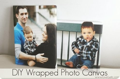 DIY Wrapped Canvas