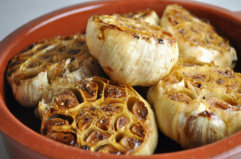 vegan ascent: Tajine-roasted Garlic