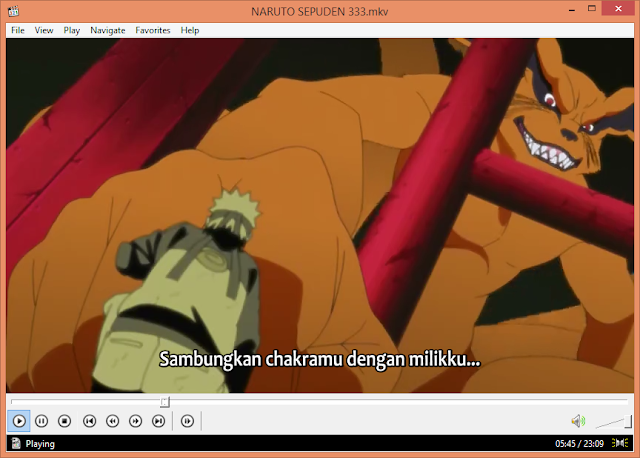 Download K-Lite Codec Pack 10.15 Naruto Sipudden episode 333 - Kurama bersatu dengan naruto