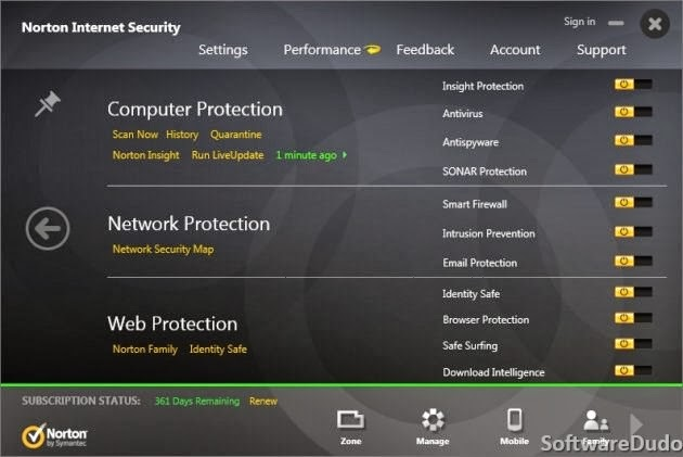 Norton Internet Security 2014 21.0 - Protection Settings