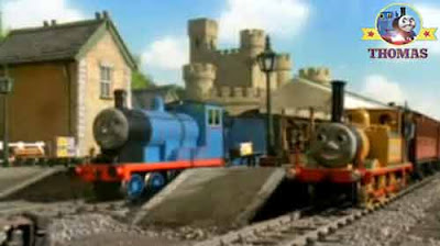 The big castle station new track Edward the train with Thomas the tank engine and Stepney the train