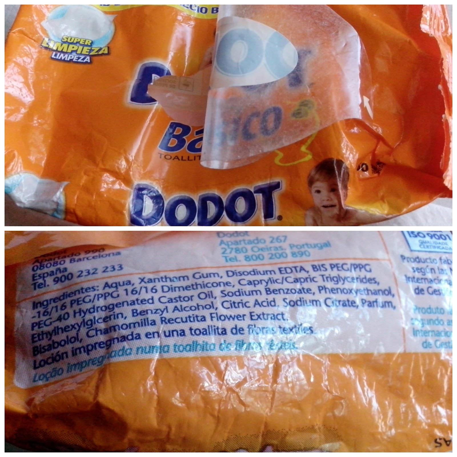 productos terminados toallitas dodot