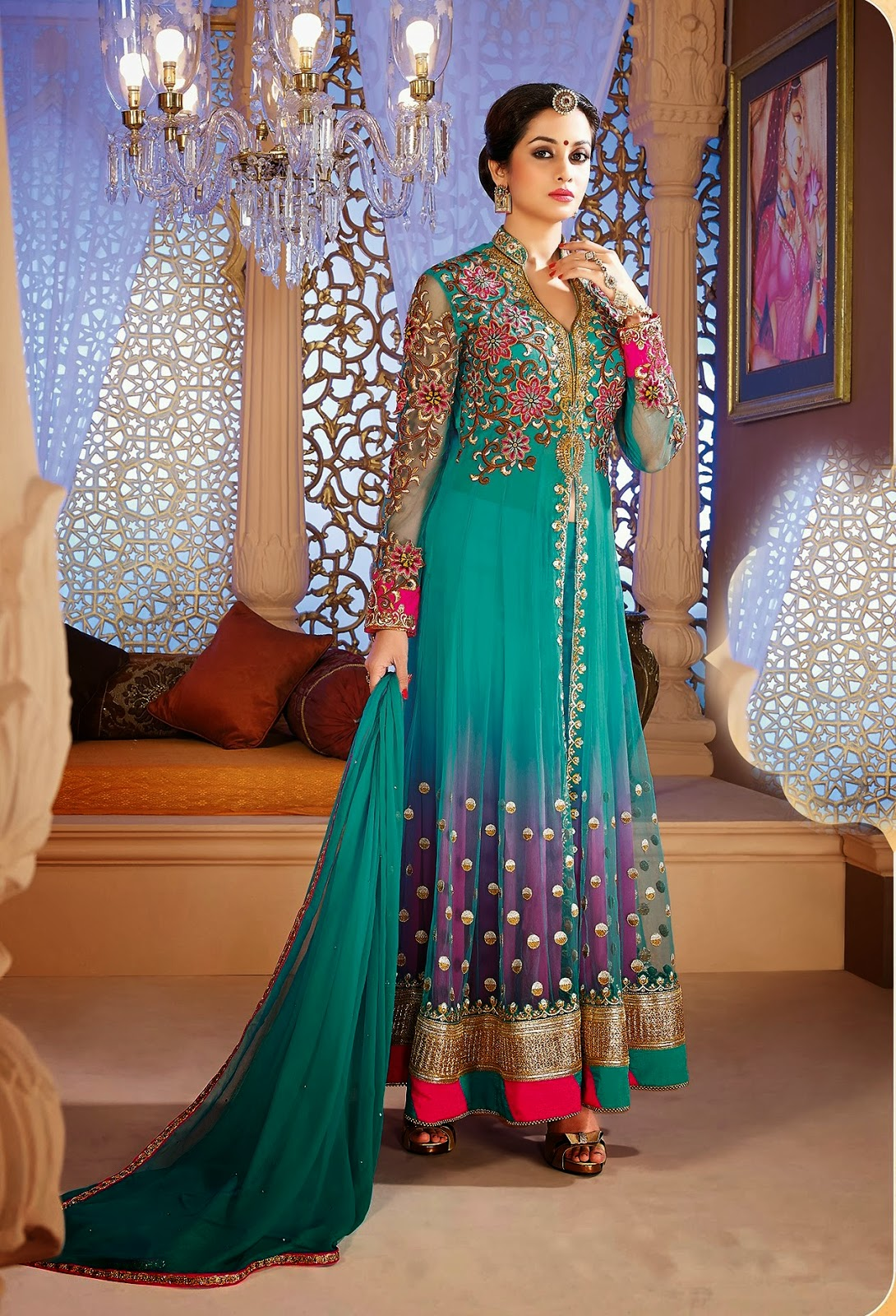 Ready-Made Long Fancy Anarkali Churidar Salwar Suits 2014 | Cheap ...