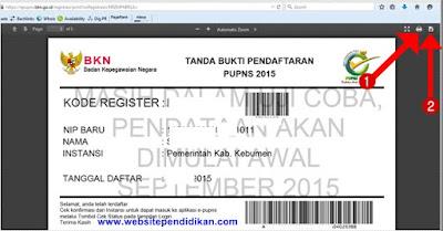 Cara Print dan Download Tanda Bukti Pendaftaran PUPNS