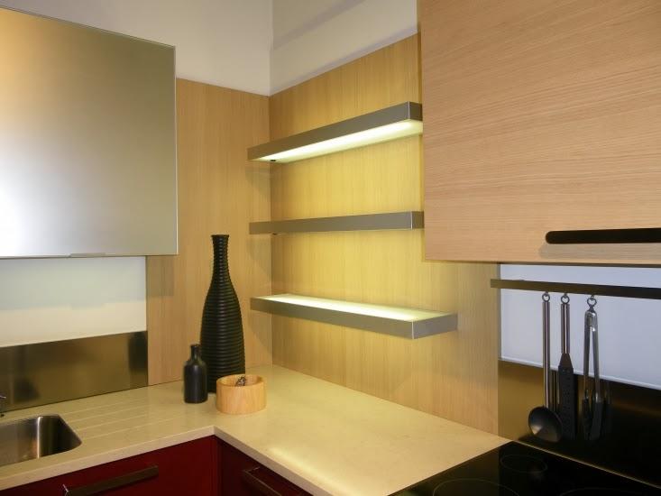 repisa luz cocina