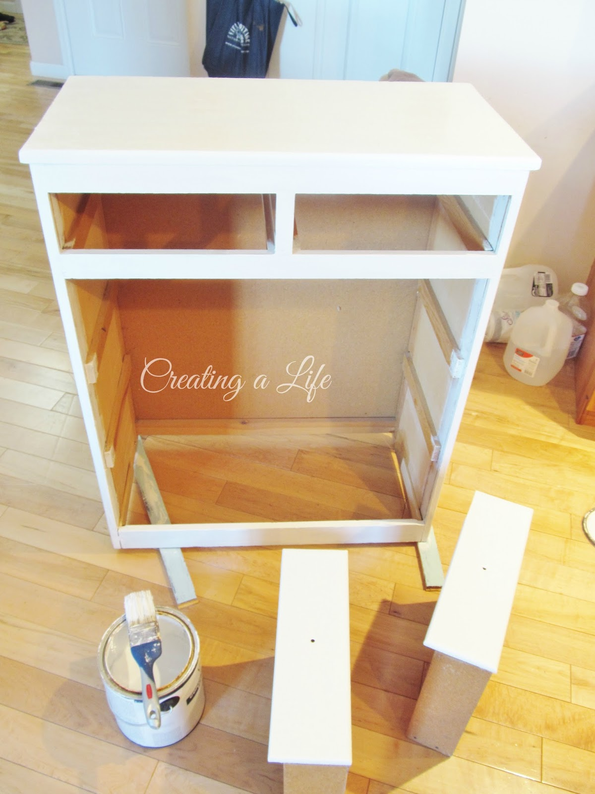 creating a life farmhouse style kitchen cabinet