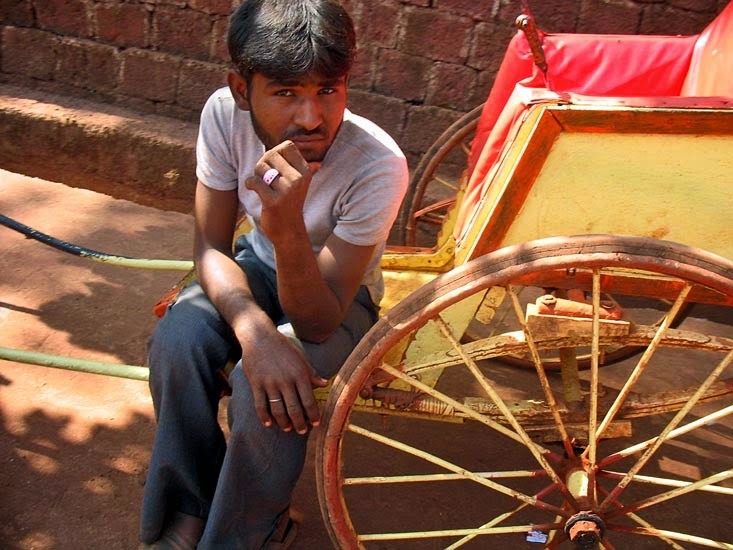 Rickshaw driver in Matheran in India