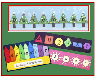 12 activities for spelling out the names of the month!  Great for a sub activity!