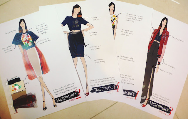 fashion illustration porfolio presentation layout