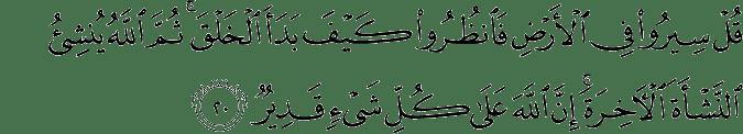 Surat Al 'Ankabut Ayat 20