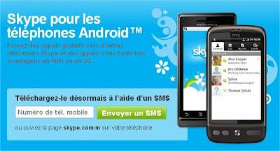 Téléphoner gratuitement avec Skype pour Android en audio et vidéo - 3G Wifi