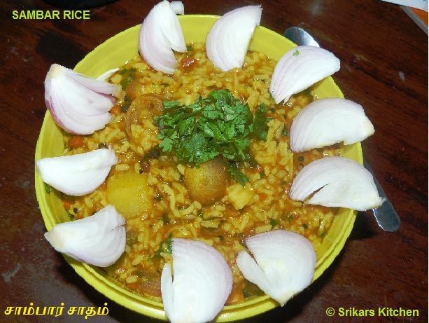 SAMBAR SADHAM- SAMBAR RICE