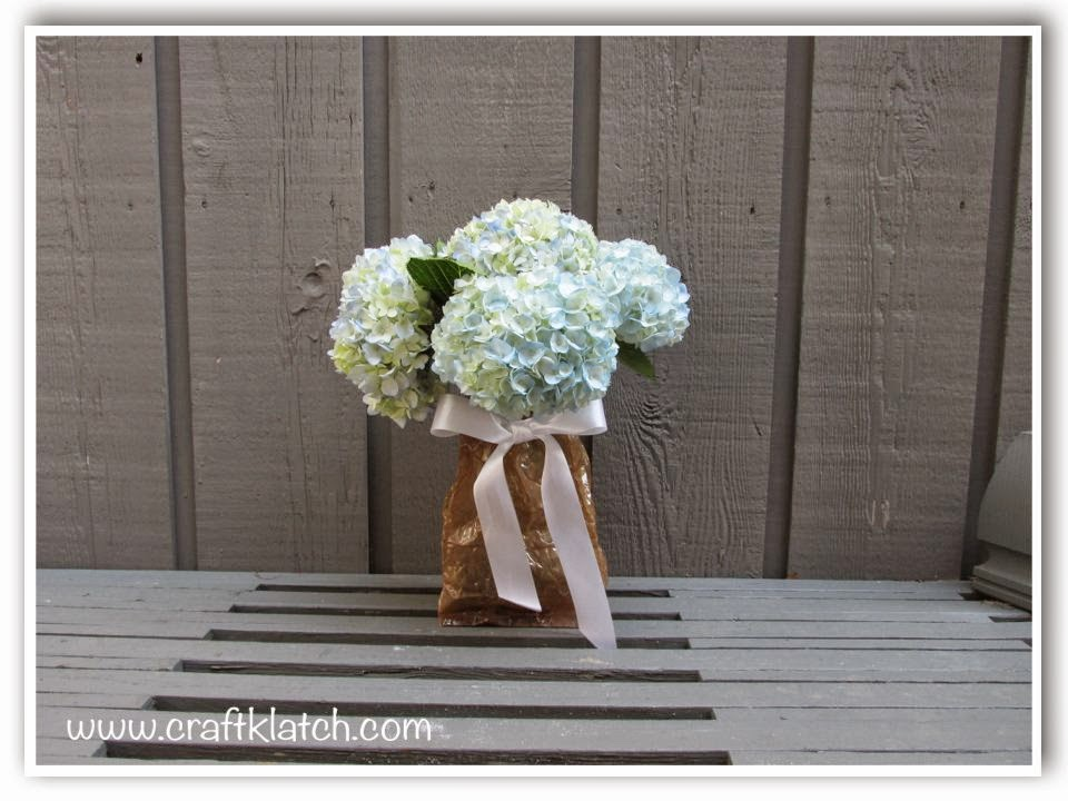 Craft Klatch Paper Bag Vase So Cool