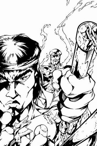 Dibujo de Shang-Chi Master of Kung Fu por Carlos Pacheco