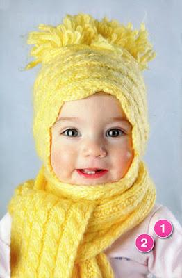 шапочка и шарф для малышки