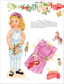 бумажная кукла девочка ретро
