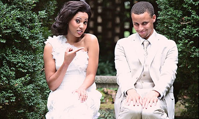 Stephen curry and his girlfriend ayesha alexander