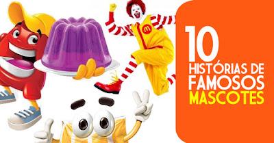 Seleção com histórias de famosos mascotes de marcas famosas.