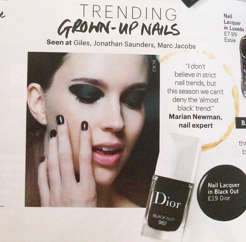 glamour magazine black nails