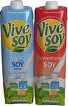 Vive Soy Drinks Light and Unsweetened Cartons